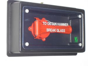 emergency hammer boxes for buses and buildings