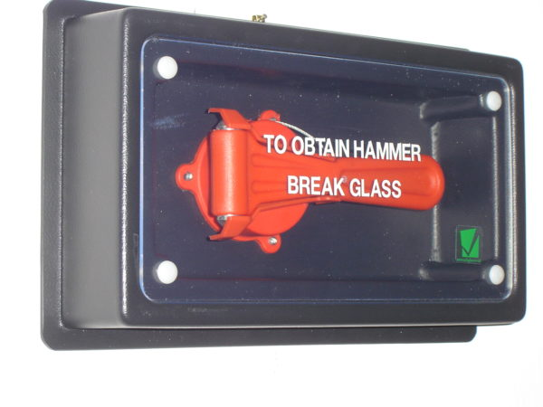 hammer box for buses and buildings, emergency escape